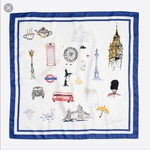 NWT JCrew London print neck scarf